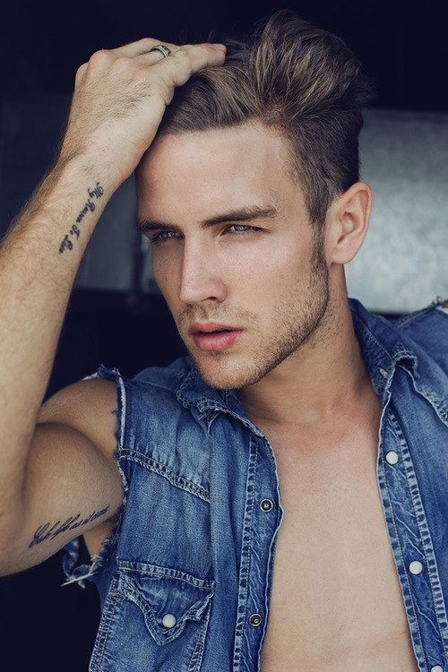 Man Tattoo Blue eyes (so sexy ;) | Hot ;-) | Pinterest ...