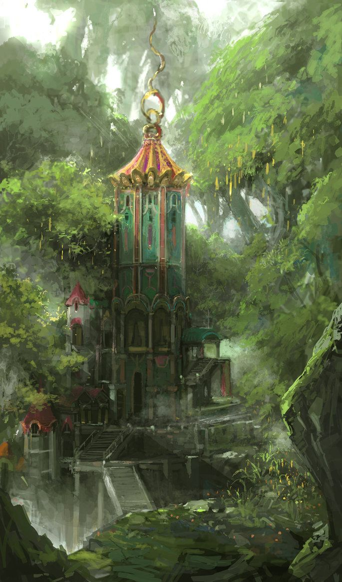 elf forest by artcobain