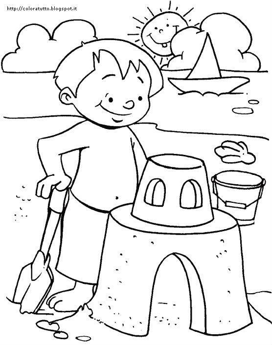 risultati immagini per disegni estate da colorare idee x