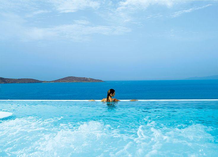 Outdoor pool, Six Senses Spa Elounda at Porto Elounda Golf & Spa Resort, Greece http://www.sixsenses.com/spas/elounda/welcome