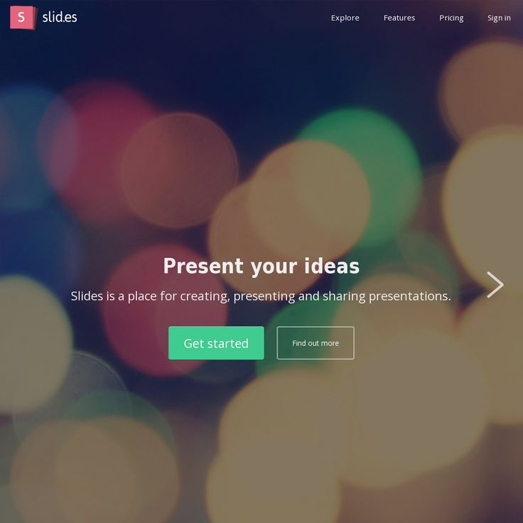 Slides is a place for creating, presenting and sharing presentations.