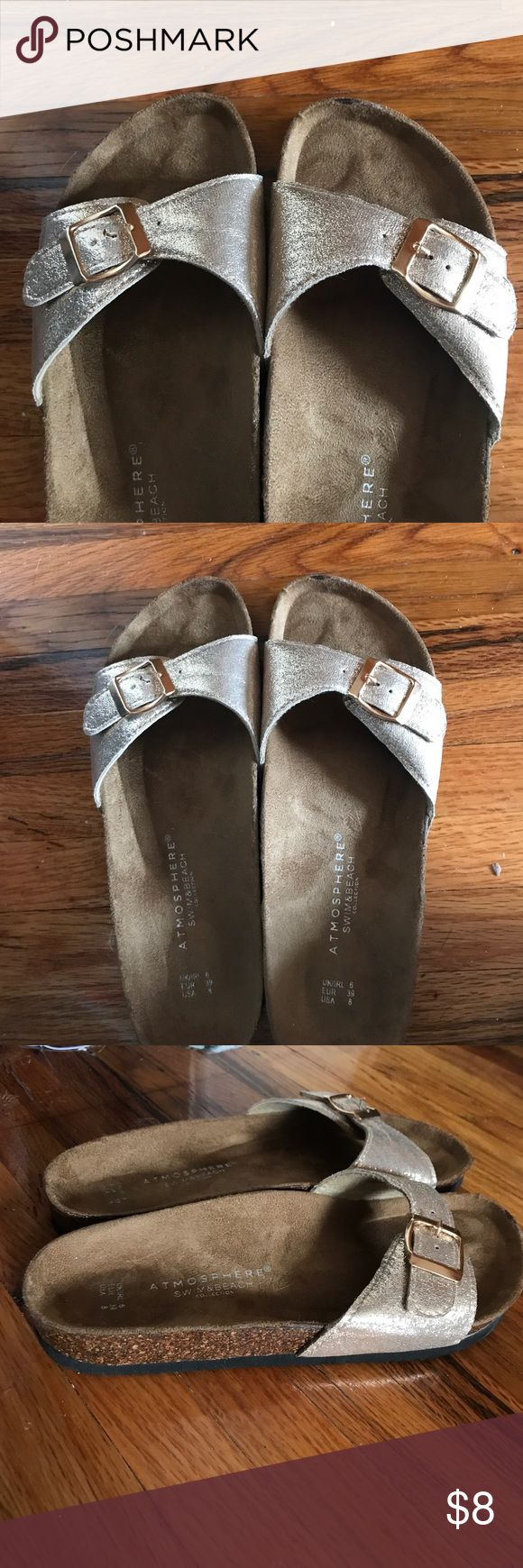 Primark sandals Gold metallic sandals very comfortable! primark Shoes Platforms