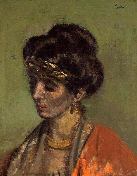 Walter Sickert, Portrait of Celia Brunel, Lady Noble, 1905