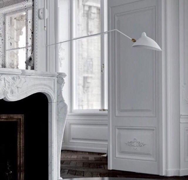 White fireplace - Haussmann