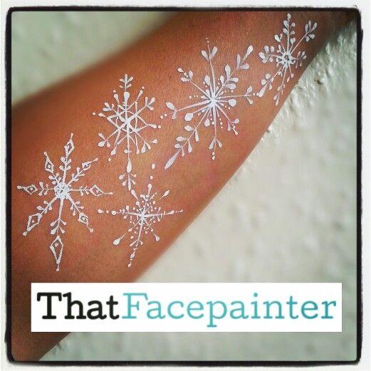 Snowflake doodling.