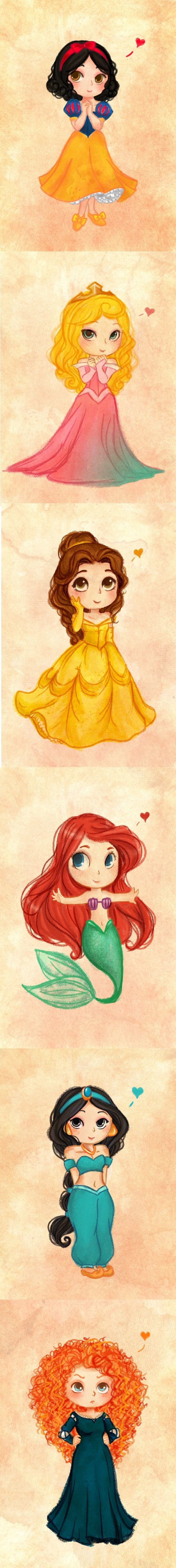 lovely <3 Princesses by Natalia Fanchini