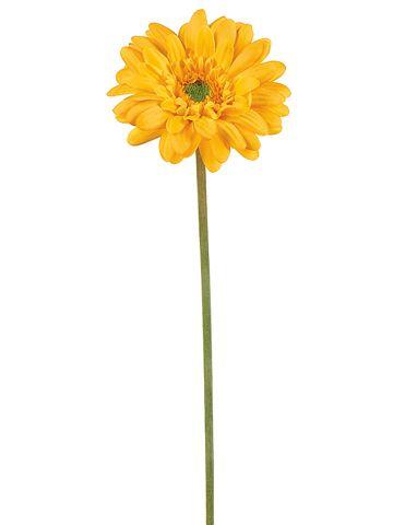 21 5 Yellow Silk Gerbera Daisy 1 79 Flowersfaux Flowerssilk