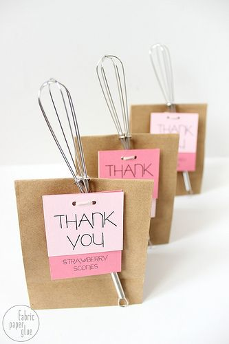 favors: bridal shower, kitchen themed