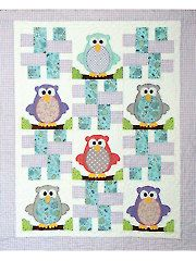 Quilt - Baby Hoots Quilt Pattern - #RVQ164