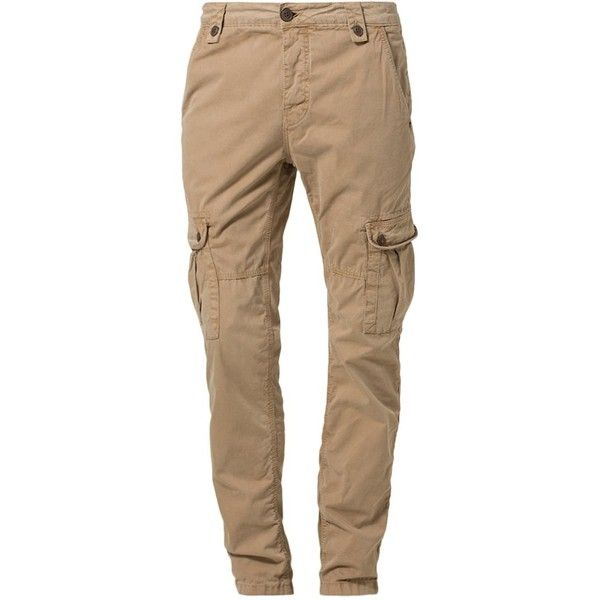 JAPAN RAGS CRUZ - Cargo trousers - cury - Zalando.co.uk ❤ liked on Polyvore featuring pants, bottoms, jeans, brown cargo pants, men pants, womens trousers, japan rags and cargo pants