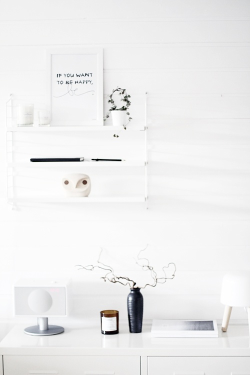 string shelf + styling | noepahjertet.com