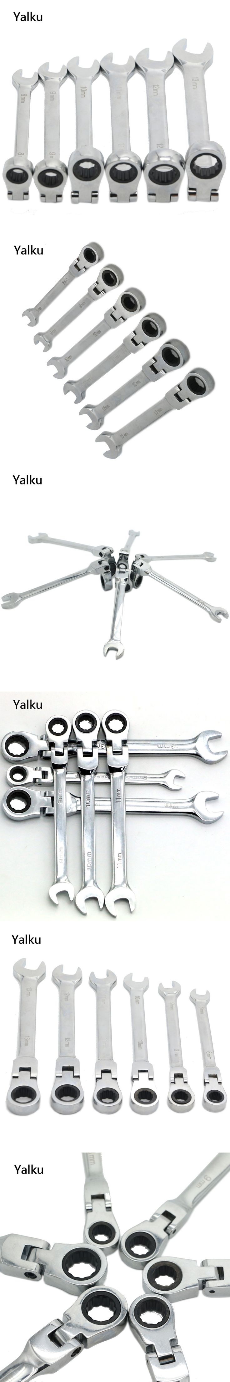 Best 25 spanner tool ideas on pinterest man cave tool shed man yalku 8 13mm ratchet gears wrench set flexible open end wrenches repair tools to bike buycottarizona