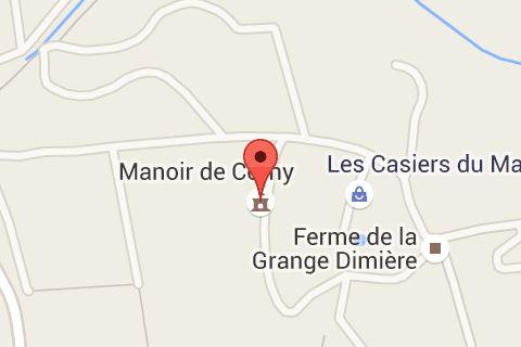 Map of Manoir de Corny Sarl