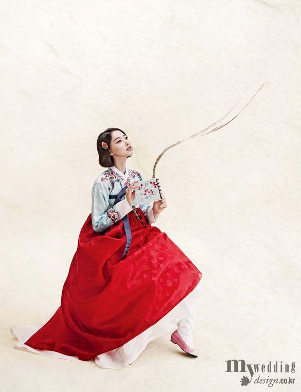 Hanbok, korean traditional clothes / My wedding / 그림을 담은 한복 / 바이단