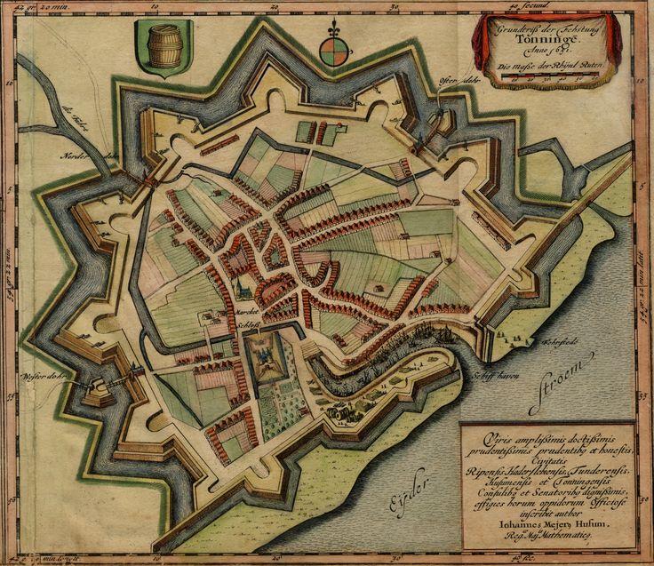 Johannes Mejer. Grundtriß der Fehstung Tonninge. Anno 1651. (Tönning 1651)