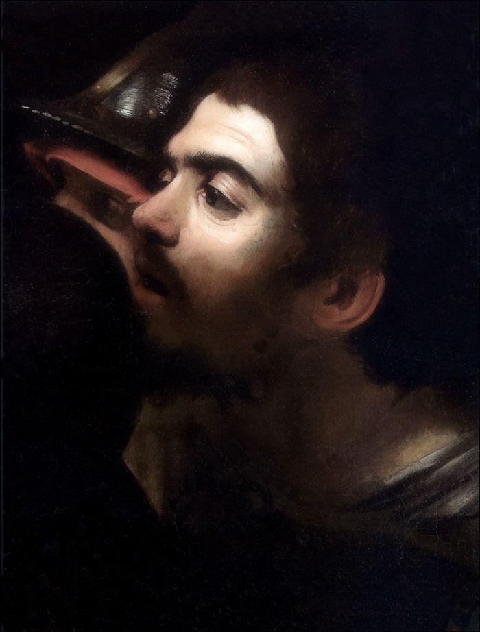 Caravaggio · Autoritratto · 1602 · Da Cattura di Cristo nell'orto · National Gallery · Dublin