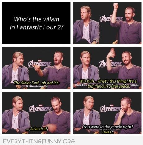funny caption interview who is villiain in avengers you were in the movie weren't you