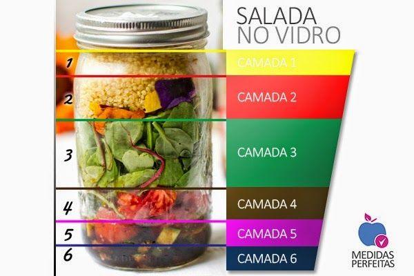 Salada no Vidro - Como montar sua salada no pote de vidro