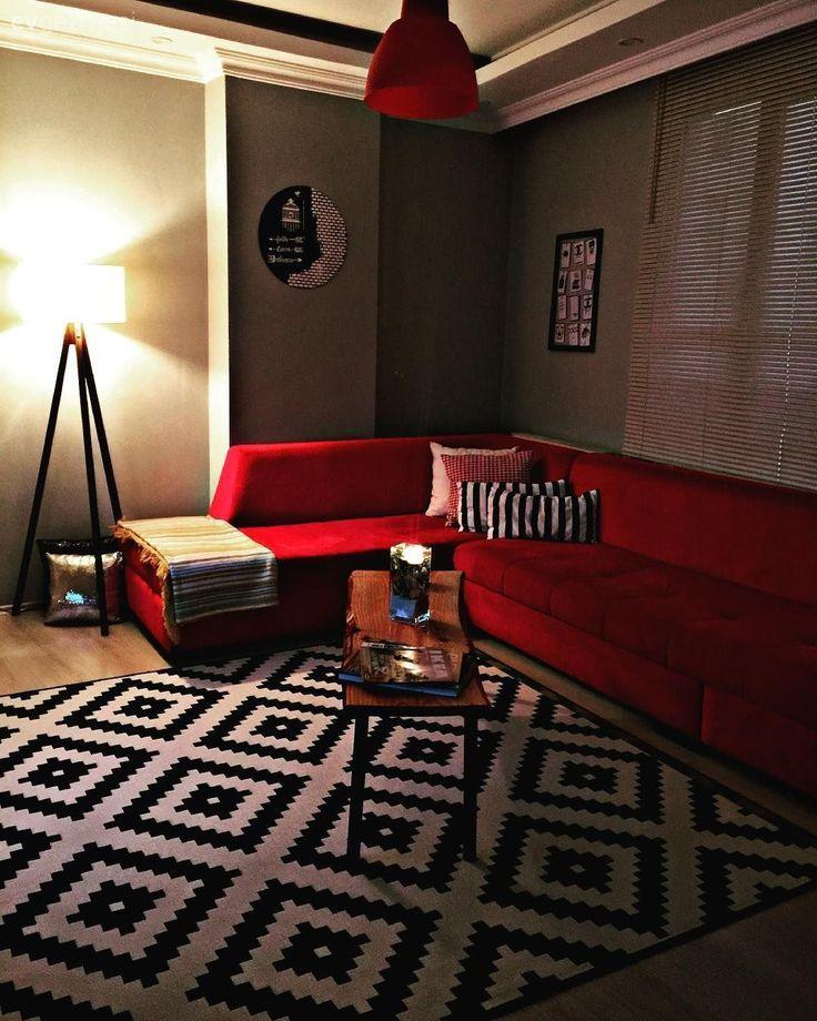 Wohnzimmer Rot Schwarz Und Weiss Ikea Teppich Ecksofa