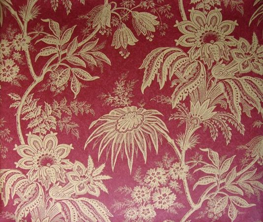 Jacobean Toile Wallpaper 163 60 00 Per Roll Dark Red With