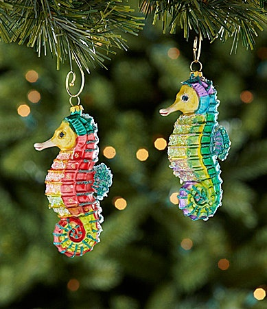 154 best Seahorses: Christmas ornaments images on Pinterest ...