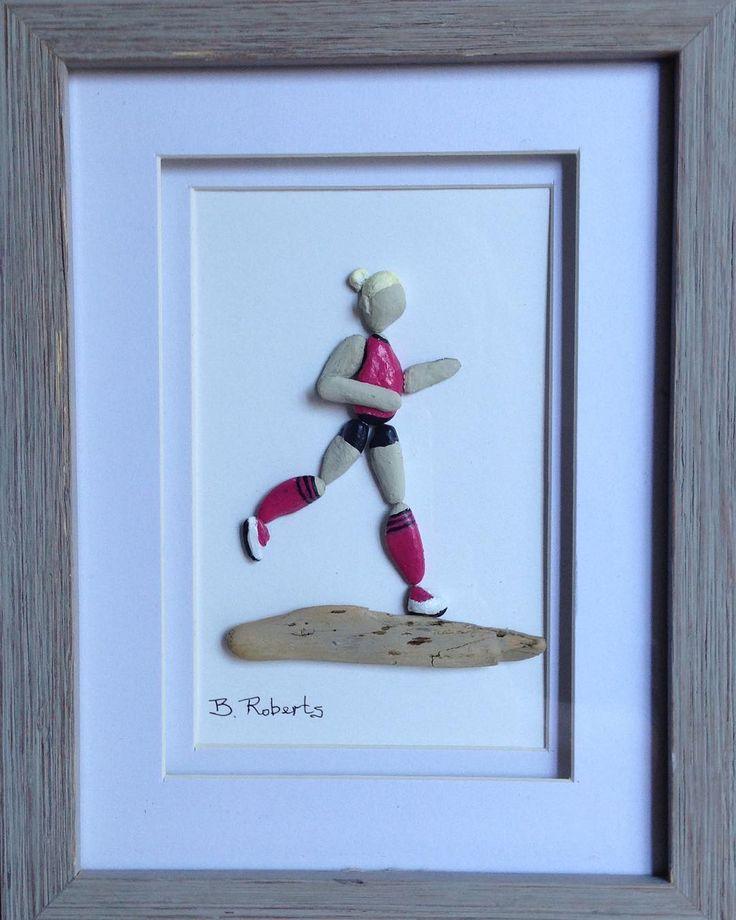 The Runner #runner #runnergirl #running #joggers #marathon #rockart #pebbleart #race #lovetorun