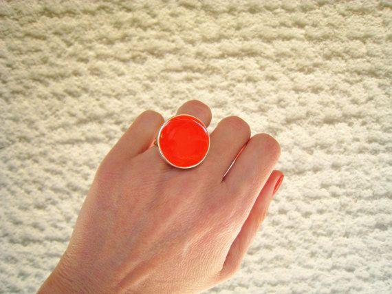 Tangerine orange ring orange resin ring round ring color by xroma