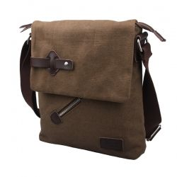 Canvas Postal Zipper Cross Body Bags
