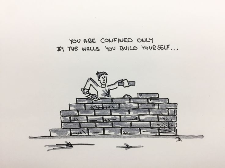 You are confined only by the walls you build yourself... #jh #jhmotivation #motivation #youareconfinedonlybythewallsyoubuildyourself #buildthewall #selfstruggle #ruinthewalls #befree #beopen #flightohappiness