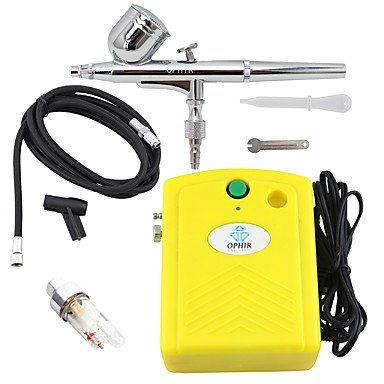 HJLWST OPHIR Airbrush Kit with Yellow Mini Air Compressor Filter for Temporary Tattoo Body Nail Paint. Tattoo sticker use green ink and glue, is harmless to human body. Paste the successful design with waterproof and sweat-proof function, will not fall off in the shower, but do not rinse with hot water for too long, should not be rubbed with. Different parts of the pattern paste, duration of different patterned after 3-5 days began to fall under normal usage conditions, feet and other…