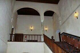 Escalera de accesoa laplanta superiordel Palacio de los Marqueses de la Algaba