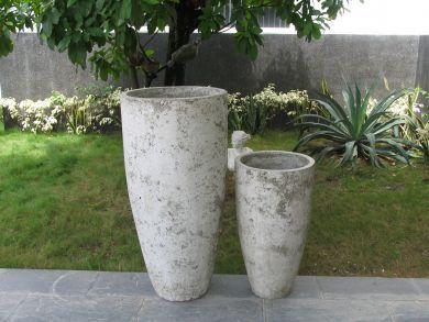 Villa Tall Round Taper 1000mm - White Stone