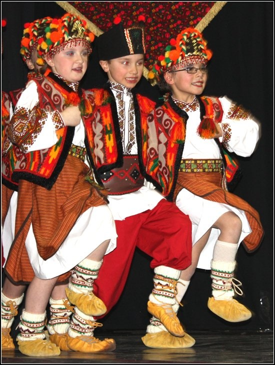 High Prairie (Alberta) Zirka dancers ukrainian aboriginal costume boy girl canada. moccasins. native