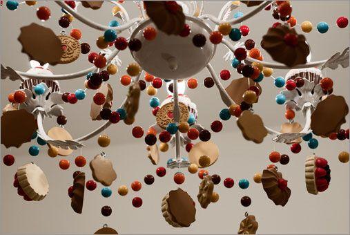 Hotel room chandelier