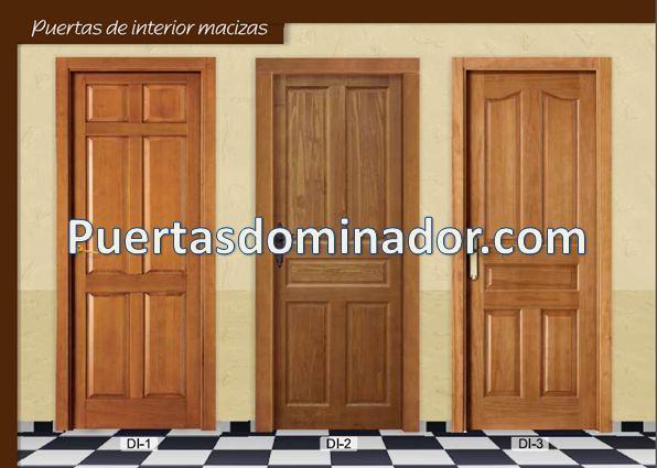Puertas de interior de madera maciza para hambientes - Manivelas puertas interior ...