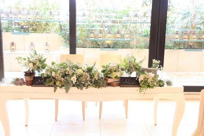 メインテーブル/花どうらく/ウェディング/会場装花/Party /Wedding/decoration/balloon/http://www.hanadouraku.com/