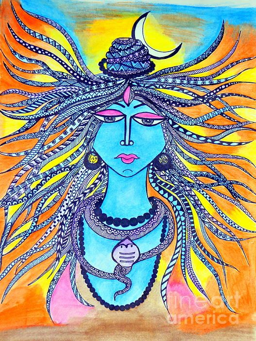 Shiva Zentangle, Abstract Art
