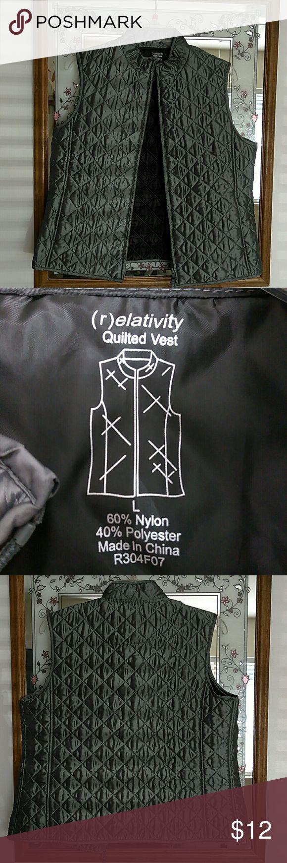 Women's silver vest Large women's (r)elativity silver vest never worn great condition (r)elativity Jackets & Coats Vests