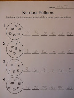 Number Patterns as seen on Fist Grade Faculty    www.firstgradefaculty.com