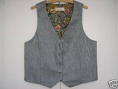 "Ladies Grey Striped Waistcoat 34"" - 36£ with snazzy lining."