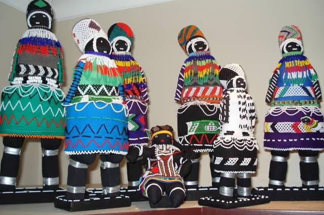 Siyazama beaded dolls