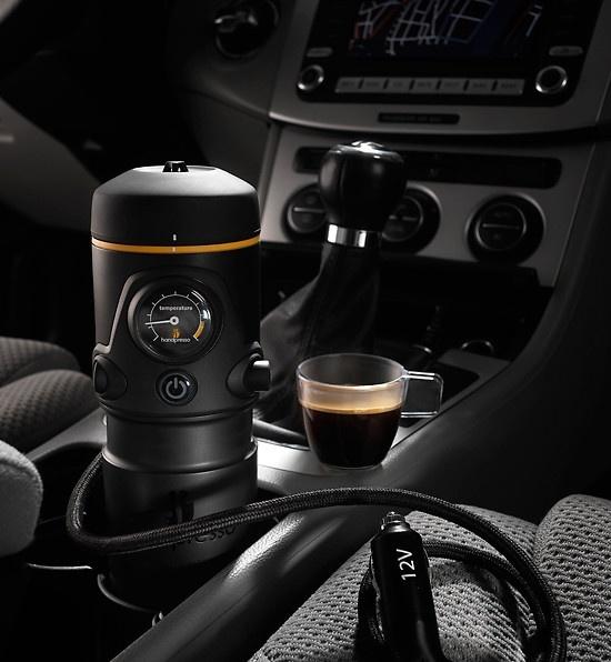 Finally? An Espresso Machine For The car :) Ummmm