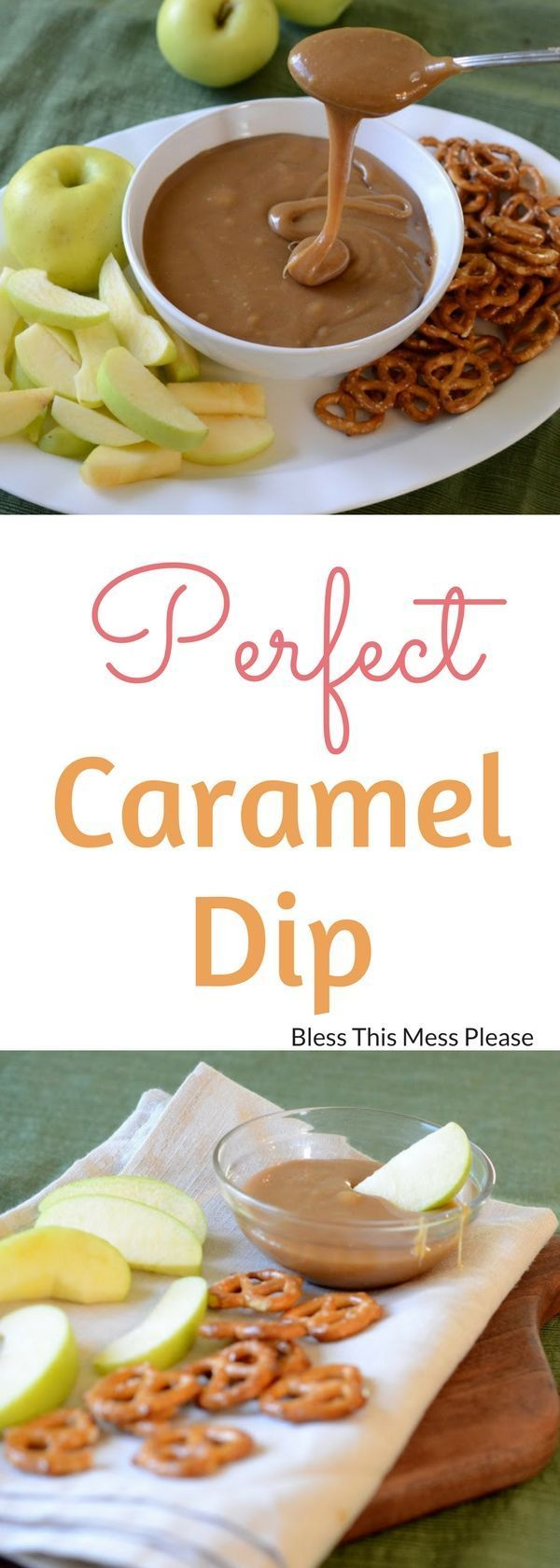 The Best Caramel Dip - Make this easy recipe with ingredients that you have on hand. This dip is the perfect consistency for dipping pretzels and apples. #carameldip #caramel #snack #easysnack