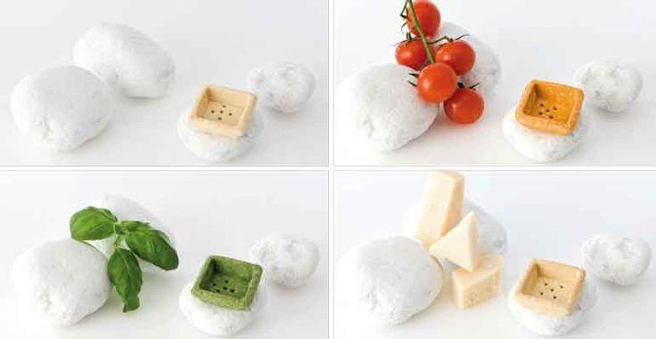Tartaleta brisa redonda y cuadrada de sabores, ideal para canapés imaginativos
