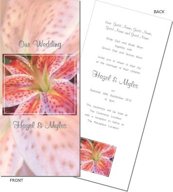 Beautiful bold colours. Tigerlilly wedding invitation. To order or see more go to: www.allyourinvites.com.au