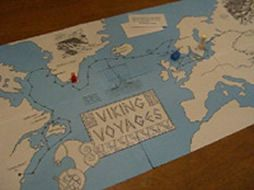 """""""Viking Voyages""""....Purpose of game:  To learn about Viking trade routes  (Did you know that the Vikings went east as far as Constantinople and possibly even Baghdad?  The Vikings didn't always pillage and raid.  When they went east, they went as merchants and established settlements in Asia.)"""