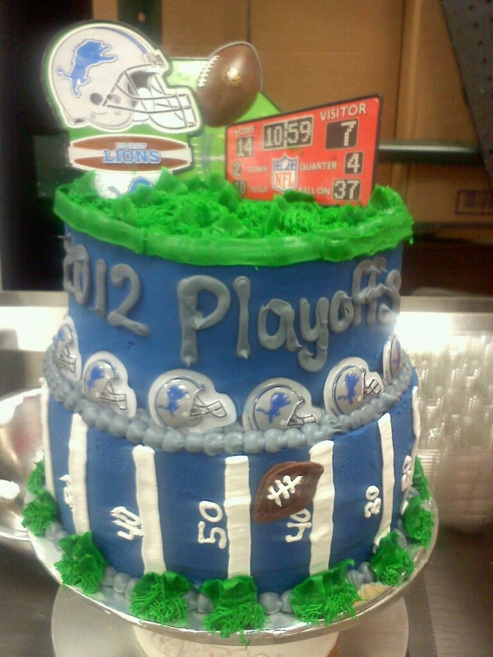 2012 detroit lions playoff cake