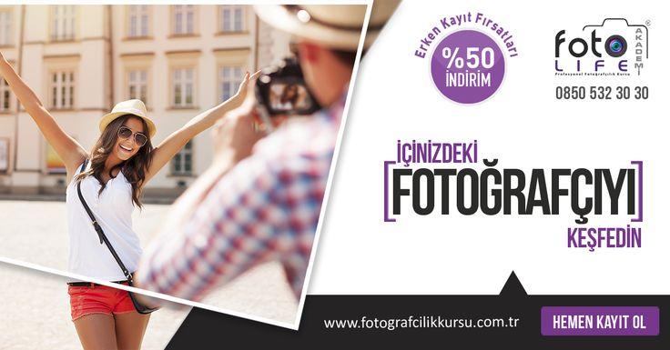 Fotoğrafçılık kursu kampanyası arayanlar için Foto Life Akademi'den Temel Fotoğrafçılık Eğitimi! Foto Life Akademi sizlere kaçırılmayacak bir kampanya hazırladı… http://www.fotografcilikkursu.com.tr/temel-fotografcilik-kursu-erken-kayit-firsati/  #fotoğrafçılıkkursukampanyası #fotoğrafçılıkkursukampanyaları #fotoğrafçılıkkursu