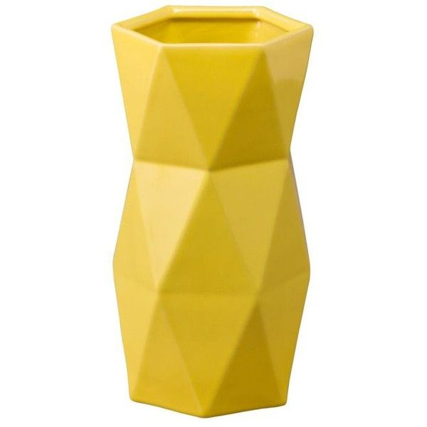 Emissary Matrix Vase Yellow By found on Polyvore featuring home, home decor, vases, yellow home accessories, yellow home decor and yellow vase
