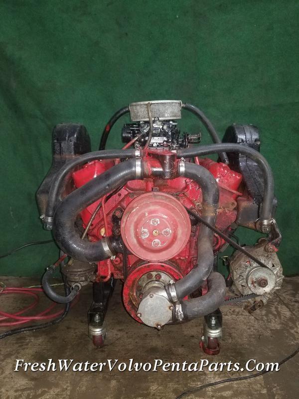 Volvo Penta 5 7l V8 Complete Running Engine 271c Holley 4 Barrel Carburetor 350 Volvo Carburetor Engineering